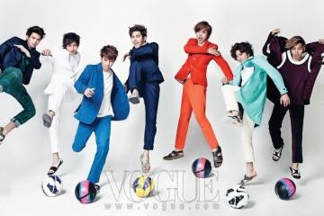 (왼쪽부터)우현의 톱과 팬츠는 H&M, 재킷은 철동(Cheol Dong), 신발은우영미(Wooyoungmi), 엘의 셔츠는 에잇세컨즈(8seconds), 재킷과 팬츠는 살바토레페라가모(Salvatore Ferragamo), 신발은 프라다(Prada), 성규의 톱은 철동, 재킷과팬츠는 클로즈드(Closed), 신발은 라코스테(Lacoste at Platform), 호야의 모든 의상은디올 옴므(Dior Homme), 신발은 캠퍼(Camper), 성열의 모든 의상은 살바토레페라가모, 신발은 캠퍼, 성종의 톱은 우영미, 팬츠는 김서룡 옴므(KimseoryongHomme), 레인 코트는 페이머스 블루 레인코트(Famous Blue Raincoat at Kud), 신발은라코스테, 동우의 모든 의상과 신발은 프라다, 축구공은 나이키(Nike).