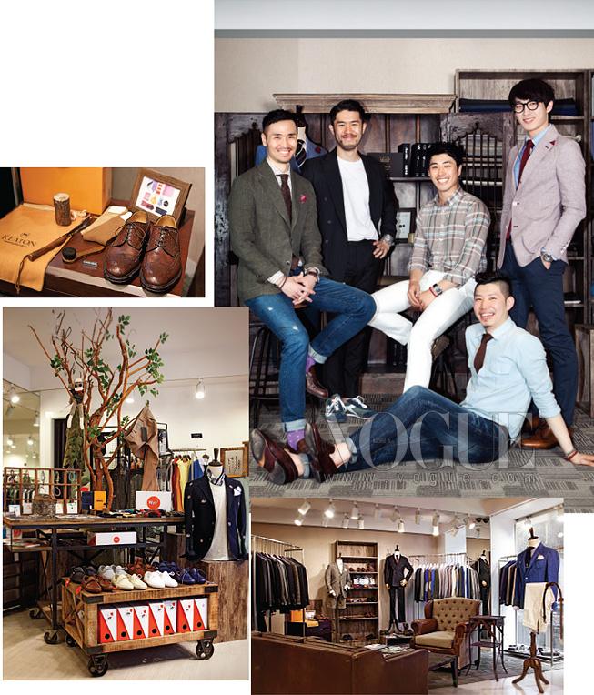부산 멋쟁이 남자들이 모여드는 '매료'를책임지고 있는 스태프들. 왼쪽 끝이 김동현 대표.