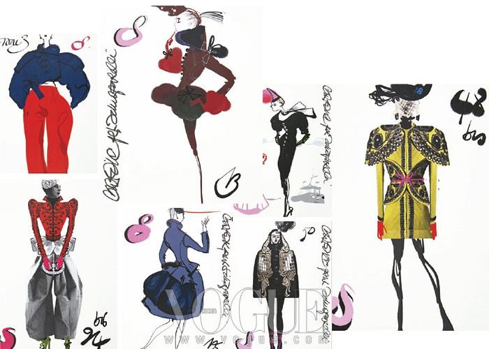 라크로와 특유의 자유분방하고 대담한 터치로 완성된패션 일러스트는 그의 상징 가운데 하나다.그는 메종 스키아파렐리의 첫 번째 컬렉션을 위해무려 90여 장의 스타일화를 그렸고, 그 가운데 옥석을가려 옷으로 제작했다.