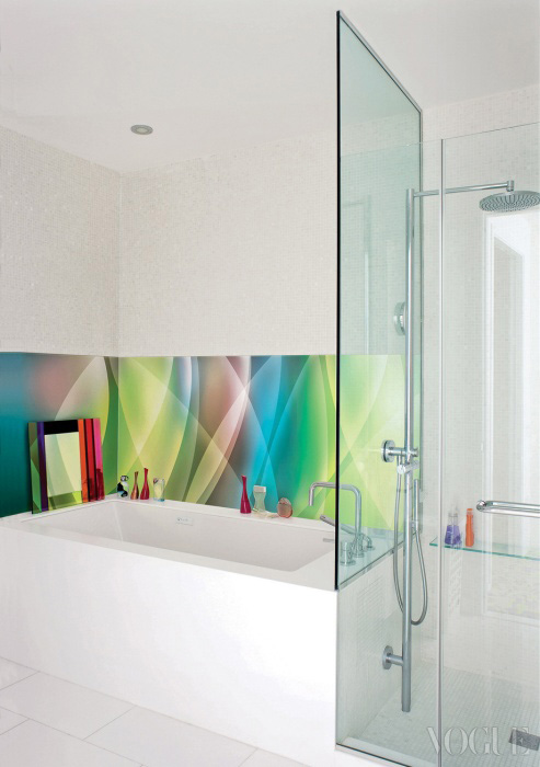 심플한 멋이 돋보이는 욕실.