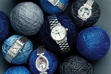 (맨 위부터 시계 방향으로)아르데코 스타일의 타원형 자개 다이얼 시계는 프레드릭 콘스탄트(Frédérique Constant). 다이얼 테두리에 다이아몬드 24개를 나란히 세팅한 시계는 구찌(Gucci). 다이아몬드 5개가 다이얼 위에서 자유롭게 움직이는 시계는 쇼파드(Chopard). 원형 자개 다이얼에 6개 다이아몬드 인덱스를 세팅한 시계는 몽블랑(Montblanc). 여러 겹의 체인으로 이뤄진 스트랩의 타원형 문페이즈 시계는 브레게(Breguet). 남성 셔츠 소매를 모티브로 한 얇은 시계는 쇼메(Chaumet). 직사각형 다이얼과 아라비아숫자 인덱스의 조합이 클래식한 시계는 예거 르꿀트르(Jaeger LeCoultre).