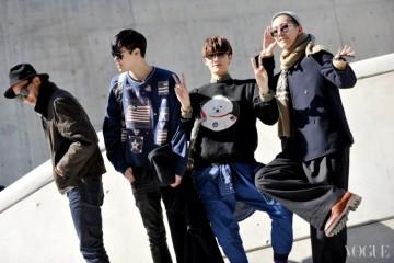 카메라를 향한 '귀요미' 모델 4인방의 명랑한 포즈! 왼쪽부터 모델 김도진, 김현태, 이주형, 그리고 김학수.