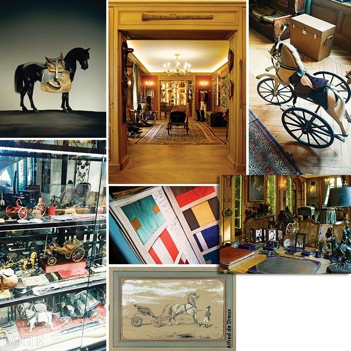 포부르 생토노레 24번가에 위치한 에르메스 박물관 내부. 말에 관한 온갖 진귀한 골동품들로 가득한 박물관은 에르메스의 과거와 현재, 미래가 연결된 공간이다.
