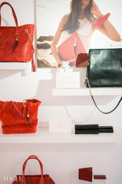하넬리의 백 브랜드는 눈에 확 띄도록 독특함과 이국적인 느낌을 스프링복 뿔 같은 장식과 혼합했다.