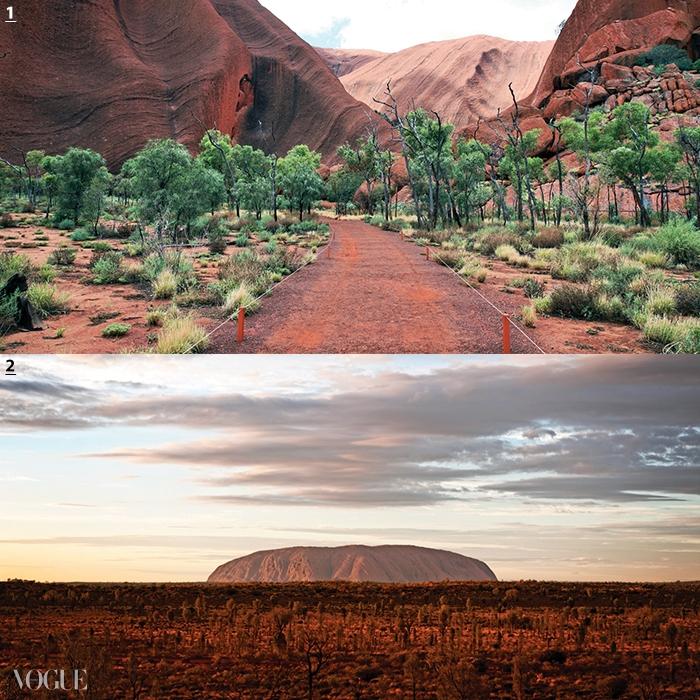 1·2 광활한 붉은 모래 평원과 바위 돔으로 유명한 카타추카 국립공원과 '세계의 배꼽'이라 불리는 에어즈락은 호주를 둘러보는 버스 캠핑 투어로 즐길 수 있다.