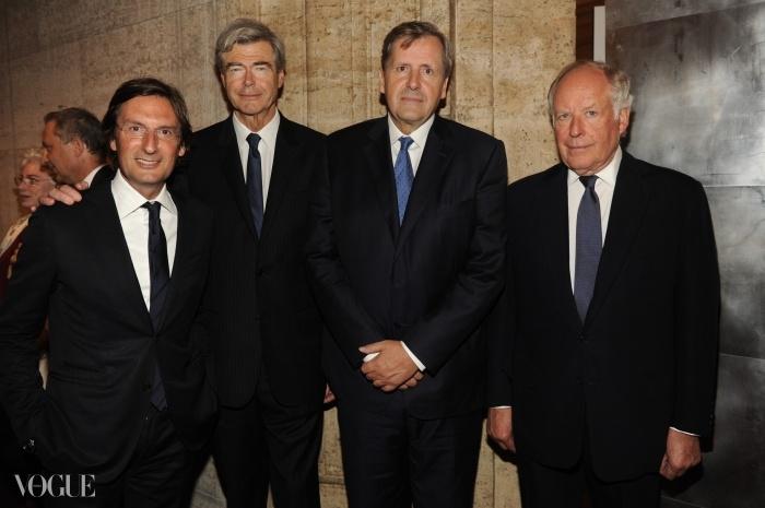 펜디 CEO인 피에트로 베카리, LVMH의 부사장 피에르 고데, 프랑스 대사 알렝 르 로이, 그리고 니콜라 불가리. ⓒ SGP