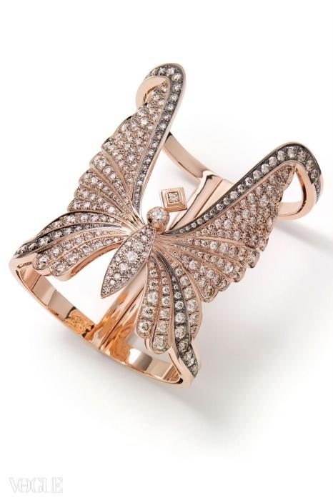 다이아몬드가 박힌 로즈 골드 팔찌. ⓒ H. 스턴