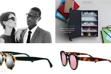 1 집에서 도수 안경을 주문할 수 있는 와비 파커. 2 부위별로 각기 따로 고를 수 있는 일레스테바의 선글라스.