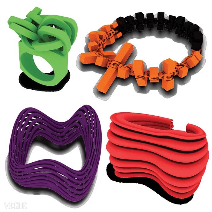 3D 프린터로만 제작 가능한 독특한 디자인의 원더뤽 액세서리들.
