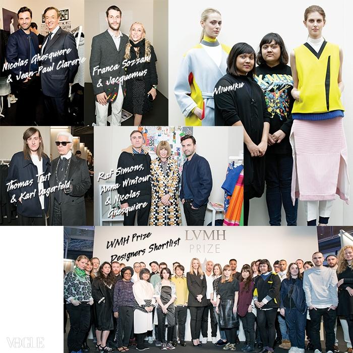 뉴욕의 후드 바이 에어와함께 자매 디자이너미우니쿠가 LVMH 어워드의특별상을 수상했다. 그리고<보그> 편집장들을 비롯한패션계 유명 인사들이LVMH 어워드를 위한쇼룸에 들러 젊은디자이너들을 격려했다.
