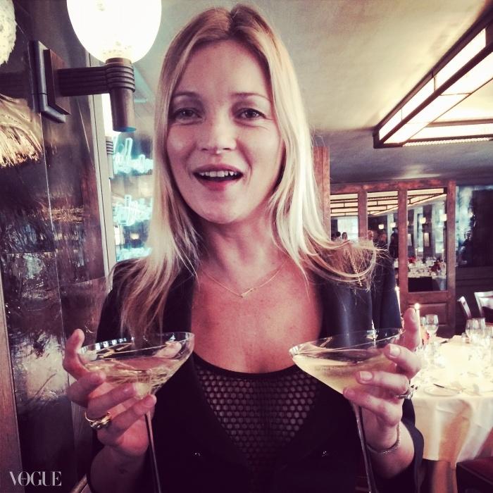 런던 '34' 레스토랑에서 독점 선보인 케이트 모스 샴페인 잔.