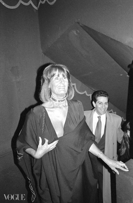 1988년의 레이디 애나벨 골드스미스. 나이트클럽은 그녀의 이름을 따서 명명된 것.