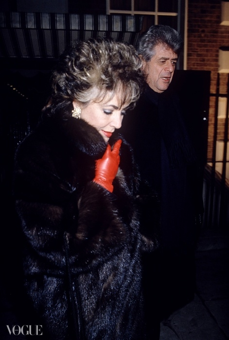 엘리자베스 테일러와 데니스 스타인(Dennis Stein), 애나벨스, 1985년.