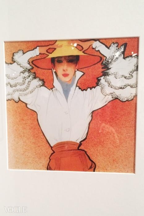 웨베르 드 지방시가 만든 유명한 베티나 블라우스를 르네 귀오가 그린 삽화 ©르네 그뤼오