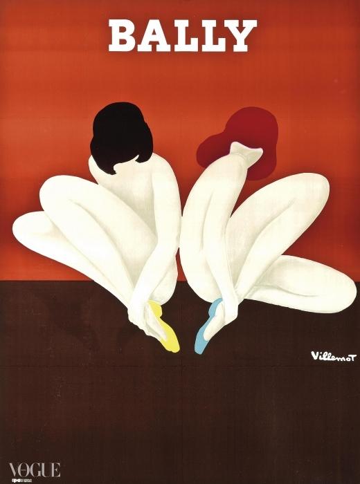 베르나르 빌모(Bernard Villemot) (1911-1989). 발리(Bally) (Le Lotus). 입찰 시작 가격: £800 ⓒ Christie's Images Ltd. 2014