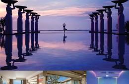 (위부터)누사두아해변에 왕국처럼 자리한물리아 발리는 일출이특히 아름답다.특급 호텔보다 더 편리한24시간 버틀러 서비스를제공하는 스위트룸형태의 더 물리아,프라이빗한 시간을보낼 수 있는 물리아 빌라,여행의 피로를 풀어주는스파 트리트먼트룸.