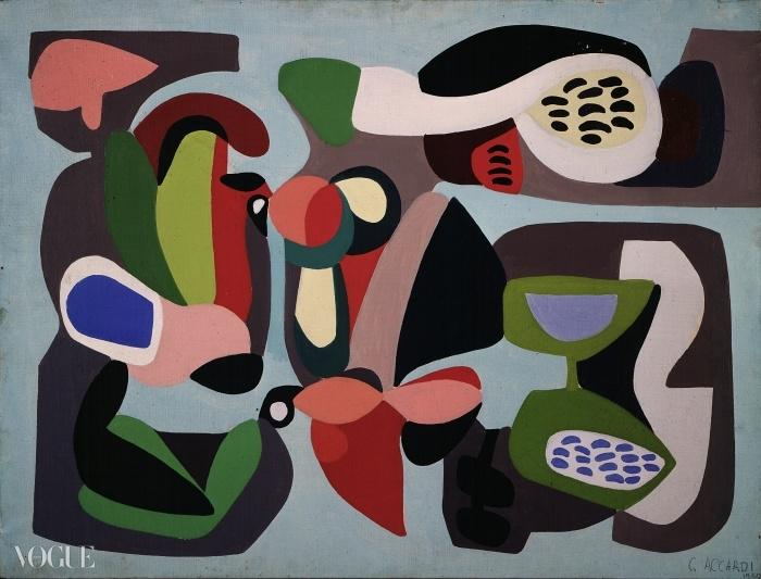 '컴포지션(Composizione)' 아티스트 칼라 아카르디(Carla Accardi) 작품. 로마 국립근대미술관(Galleria nazionale d'arte moderna) ⓒ 실비오 스카포레티(Silvio Scafoletti). 1950