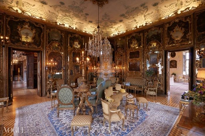 레오폴트스크론 성의 베네치아 스타일의 방 ⓒ 올리비에 세일랑