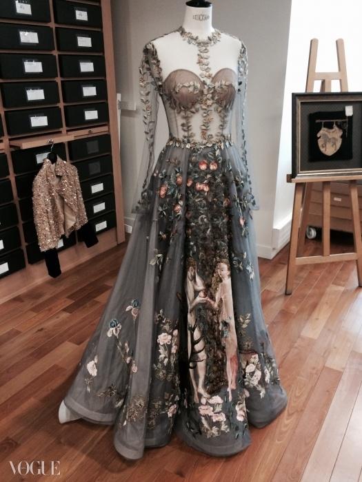 에덴 동상(Le Jardin d'Eden) 드레스. 발렌티노 봄 꾸뛰르 2014