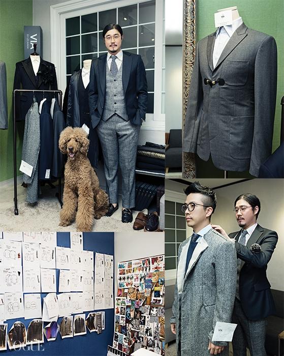 디자이너 이정기는시그니처 브랜드로이번 서울 패션위크에 첫 출전했다.남자들만이 누릴 수있는 테일러드 수트의쾌락, 탐미적 비스포크문화를 제안하는 중.