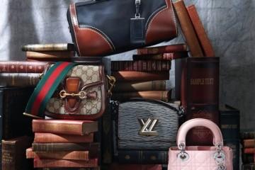 (위부터)나일론 천과 가죽이어우러진 볼링백은 프라다(Prada),GRG 웹 스트랩을 그대로 적용한숄더백은 구찌(Gucci), 에피 소재를데님 느낌으로 재해석한 체인숄더백은 루이 비통(Louis Vuitton),앙증맞은 사이즈의 연분홍 토트백은 디올(Dior).