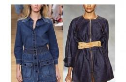 비슷한 느낌의 데님 원피스둘 중 최신의 스타일은 어느 쪽일까요?왼쪽? 오른쪽?? 맞춰 보세요!
