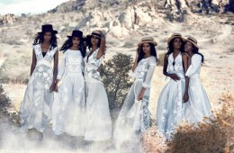 HEAVENLY BODIES싱그러운 내음 가득한 화이트 드레스의 향연! 자수 장식시폰 드레스는 모두 알베르타 페레티(Alberta Ferretti), 검정 펠트소재 모자는 생로랑(Saint Laurent by Hedi Slimane),화보 속 밀짚모자는 모두 패트리샤 언더우드(Patricia Underwood).