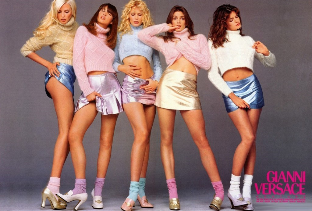 Cindy Crawford, Nadja Auermann, Christy Turlington, Claudia Schiffer and Stephanie Seymour for Versace Versace AW94