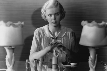 circa 1935:  Hollywood actress Jean Muir (1911-1996) demonstrates a home manicure. She starred in such films as 'Desirable', and 'As The Earth Turns'.  (Photo by Hulton Archive/Getty Images)