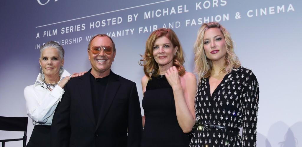 앨리 맥그로우, 마이클 코어스, 르네 루소, 그리고 케이트 허드슨은 런던에서 '30년 간 미국 영화에서 패션이 맡은 역할'에 대해 토론하기 위해 런던으로 날아왔다.