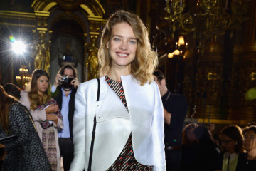 PARIS, FRANCE - SEPTEMBER 30:  Natalia Vodianova attends the Stella McCartney show as part of the Paris Fashion Week Womenswear Spring/Summer 2014 at Palais Garnier on September 30, 2013 in Paris, France.  (Photo by Pascal Le Segretain/Getty Images)
