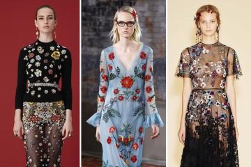 꽃 보다 여자! 2016 리조트 컬렉션의 절정은, 역시 꽃. 왼쪽부터 알렉산더 맥퀸, 구찌, 발렌티노!