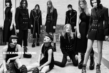 A visual from the Alexander Wang Fall 2015 campaign.