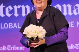 LONDON, ENGLAND - NOVEMBER 10:  Fashion editor of the International Herald Tribune Suzy Menkes celebrates the close of Day 2 of the International Herald Tribune Heritage Luxury Conference at the InterContinental Hotel on November 10, 2010 in London, England  (Photo by Samir Hussein/Getty Images for International Herald Tribune)