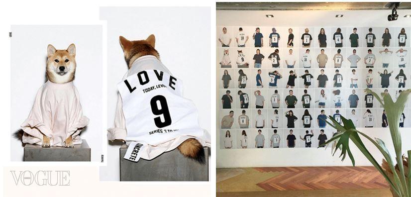 스튜디오 콘크리트에서 기획한 원투텐 티셔츠를 위해 모인 서울 멋쟁이들. 여기엔 이 집단에서 키우는 강아지도 포함돼 있다.