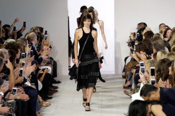 NEW YORK, NY - SEPTEMBER 16: Model Kendall Jenner and fellow models walk the runway at the Michael Kors Spring 2016 Runway Show during New York Fashion Week: The Shows at Spring Studios on September 16, 2015 in New York City.  (Photo by JP Yim/Getty Images for Michael Kors)