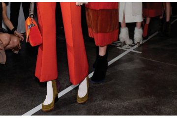 Fendi womenswear backstage,  Milan, Autumn/Winter 2015. Copyright James Cochrane February 2015. Tel +447715169650 Email james@jamescochrane.net