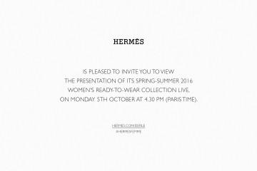 [에르메스]2016 봄-여름 여성복 컬렉션_라이브스트리밍_티저 초대장