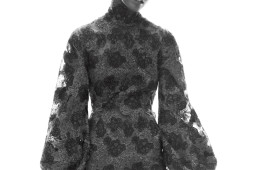 """BELLE OF THE BALLAmazingly, wrists (like necks, napes, and ankles) are again erogenous zones�""""with flared sleeves and ruffled cuffs possessing all the drama of Thackeray. Donna Karan New York turtleneck dress; Donna Karan New York stores."""