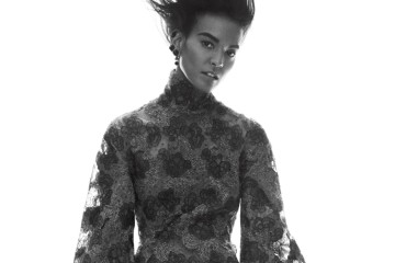 "BELLE OF THE BALLAmazingly, wrists (like necks, napes, and ankles) are again erogenous zones� ""with flared sleeves and ruffled cuffs possessing all the drama of Thackeray. Donna Karan New York turtleneck dress; Donna Karan New York stores."