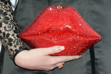 LOS ANGELES, CA - NOVEMBER 23:  Singer-songwriter Meghan Trainor (purse detail) attends the 2014 American Music Award at Nokia Theatre L.A. Live on November 23, 2014 in Los Angeles, California.  (Photo by Jason Merritt/Getty Images)