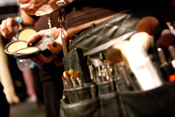 NEW YORK - SEPTEMBER 9:  A make-up artists tool belt is seen backstage at the Naeem Khan Spring 2006 fashion show during Olympus Fashion Week at Bryant Park September 9, 2005 in New York City. (Photo by Bryan Bedder/Getty Images)