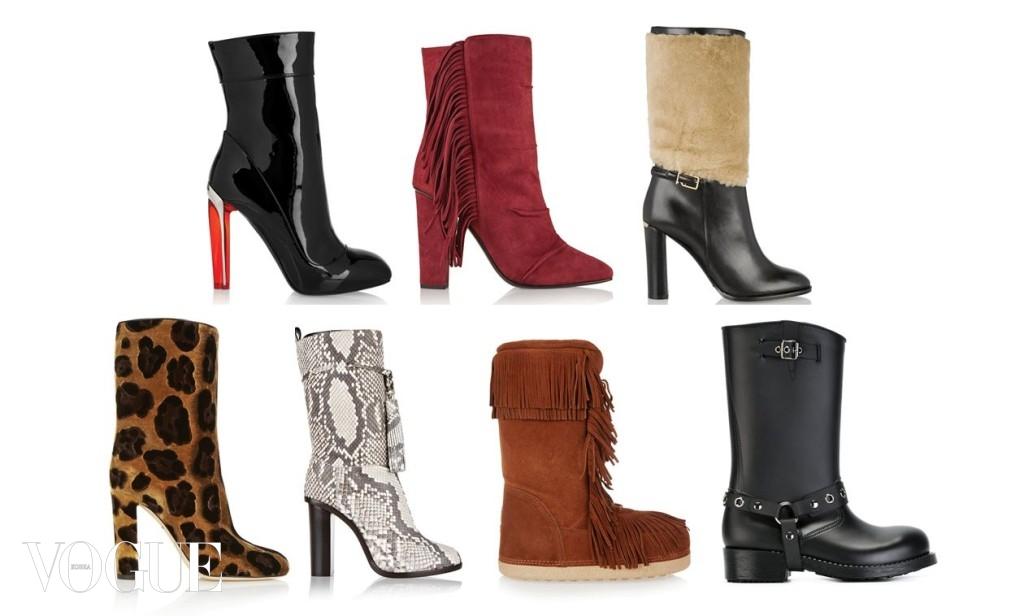 (왼쪽 위부터 시계 방향으로) Alexander McQueen/ Giuseppe Zanotti/ Burberry London/ Red Valentino/ Altuzarra/ Lanvin/ Dolce&Gabbana