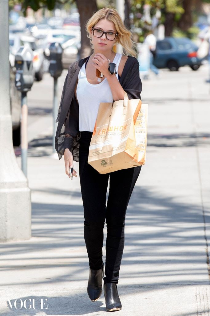 Ashley Benson shops at Erewhon in West Hollywood
