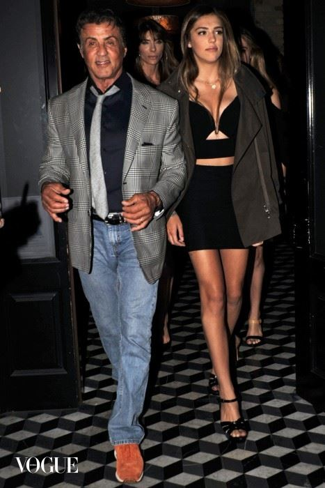 Sylvester Stallone Celebrates Daughter's 17th Birthday in West Hollywood