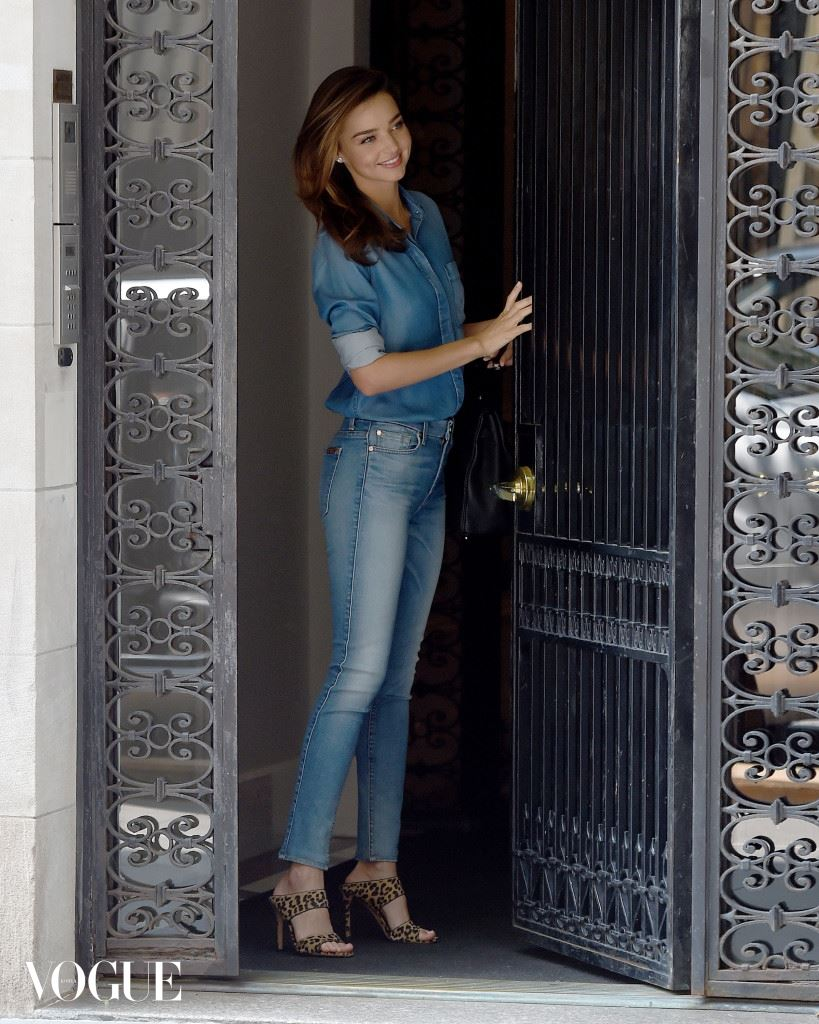 Miranda Kerr wears all denim on a beautiful day in New York City