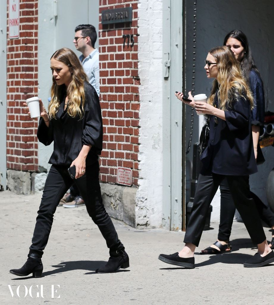 Mary-Kate Olsen and Ashley Olsen spotted leaving INDUSTRIA studio in NYC
