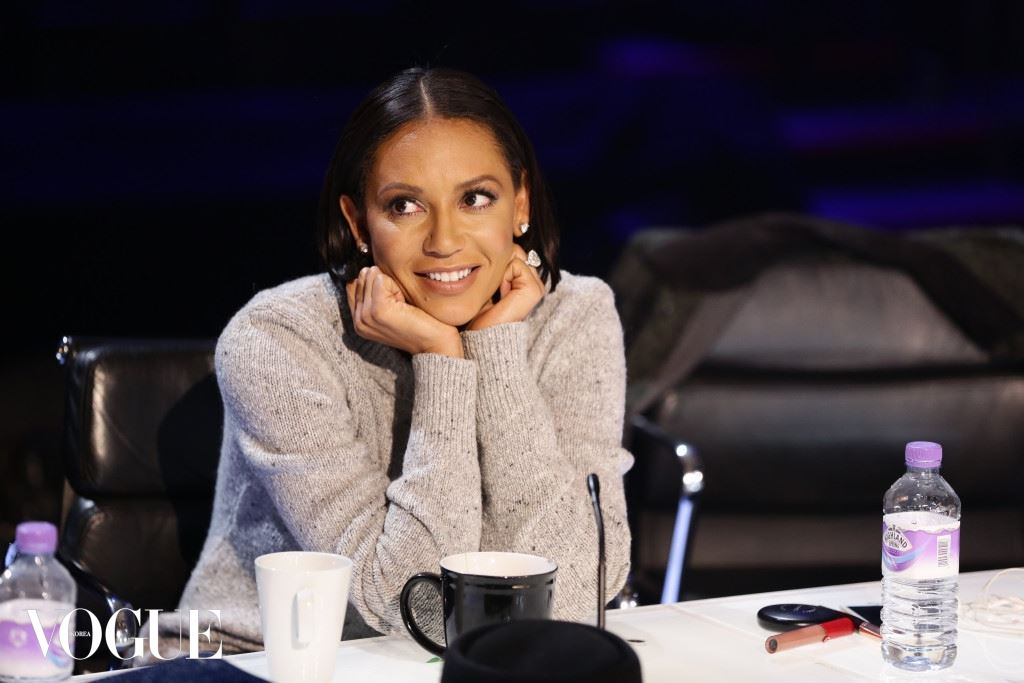Mel B is seen helping her acts at the X Factor rehearsals in London