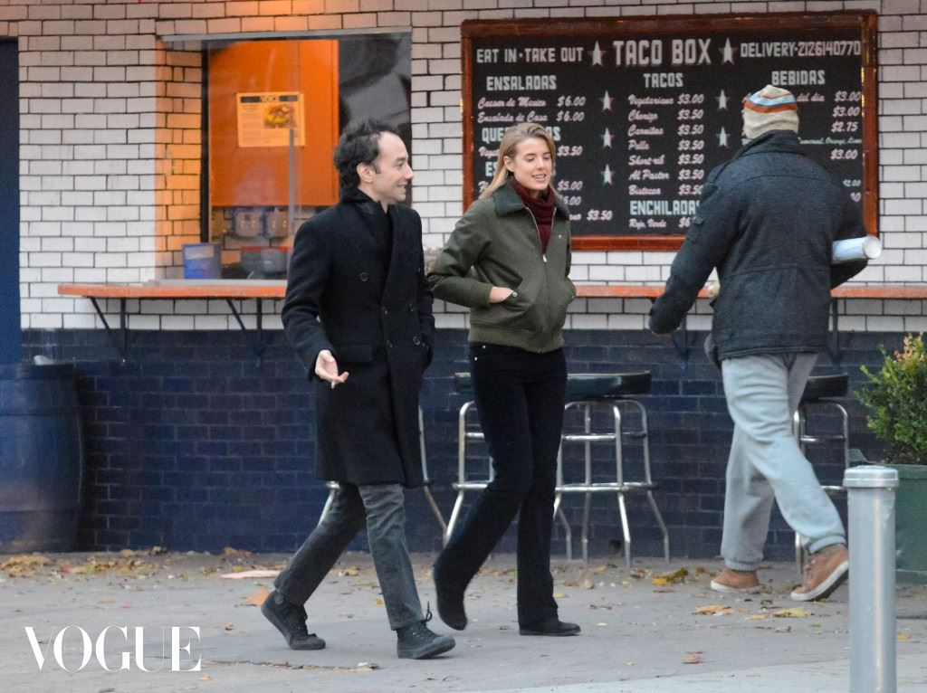 Agyness Deyn meets up with ex-boyfriend Albert Hammond in NYC