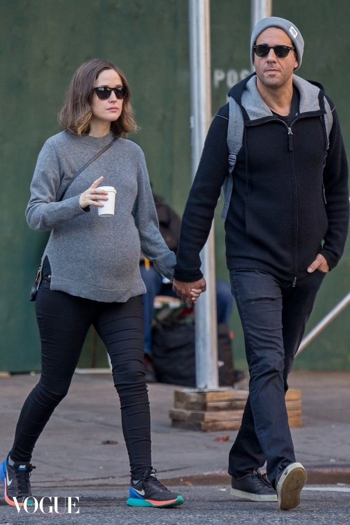 EXCLUSIVE: Rose Byrne and Bobby Cannavale take a walk on a warm day in New York.